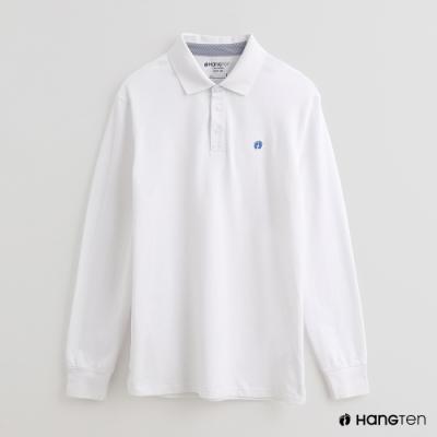 Hang Ten - 男裝 - 經典素色POLO衫 - 白