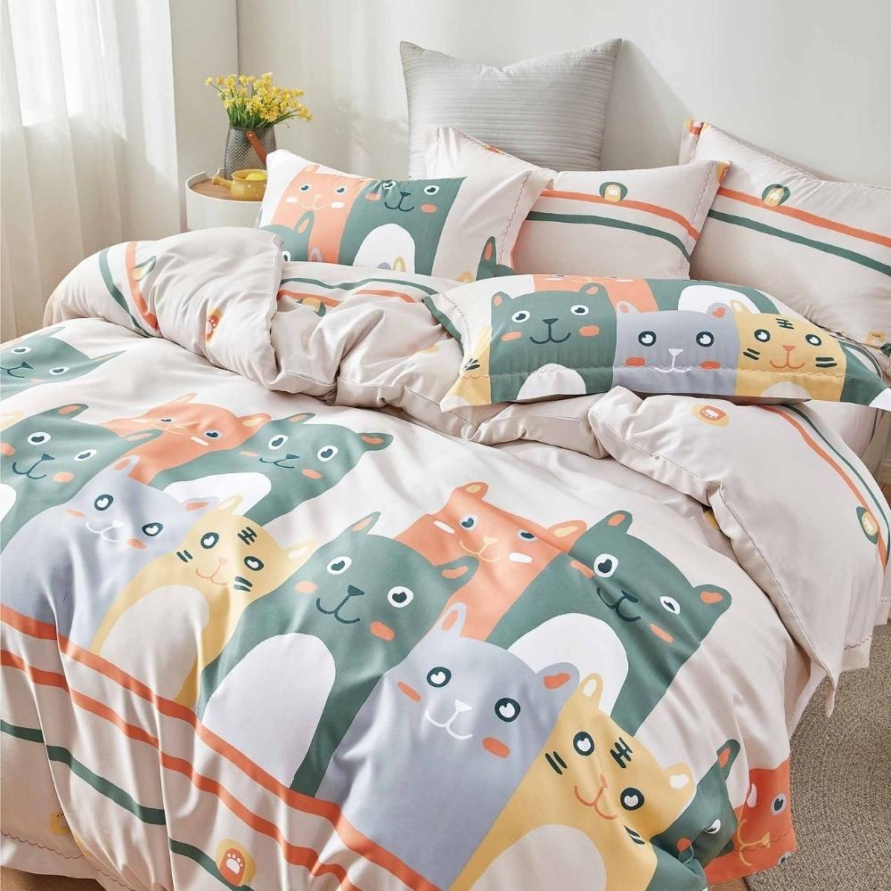 (買一送一)夢之語 3M天絲鋪棉床罩組(多款)-單/雙/大均價 (喵王節奏)