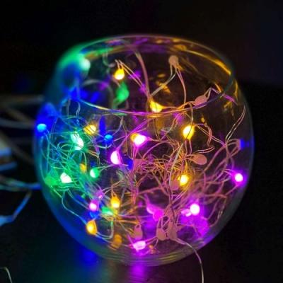 50燈LED大頭銅線燈串彩色光-USB電池盒兩用充電(贈遙控器)浪漫星星燈聖誕燈串