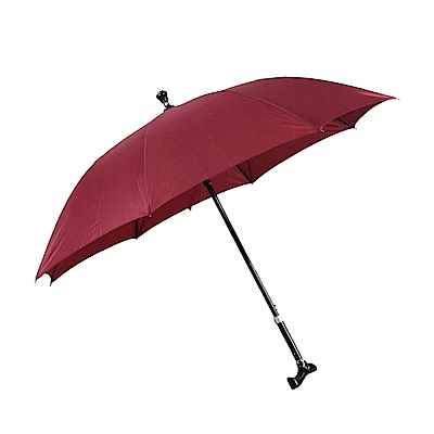 PUSH! 可調節長短拐杖傘(加固型)- 棗紅色I74-2