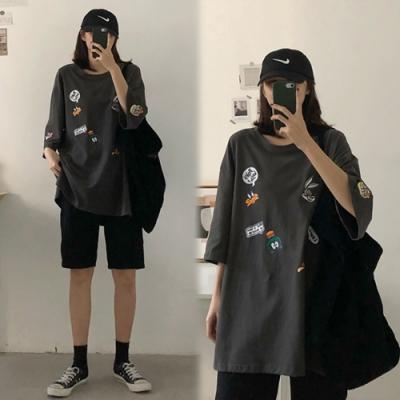 【韓國K.W.】(預購)活力宣言卡通印花上衣-2色