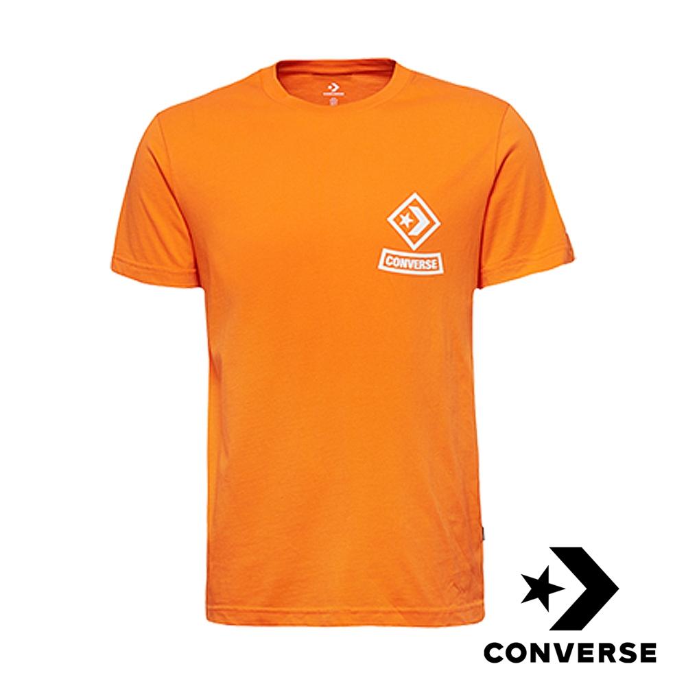 CONVERSE-男短袖上衣-橘-10008131-A02