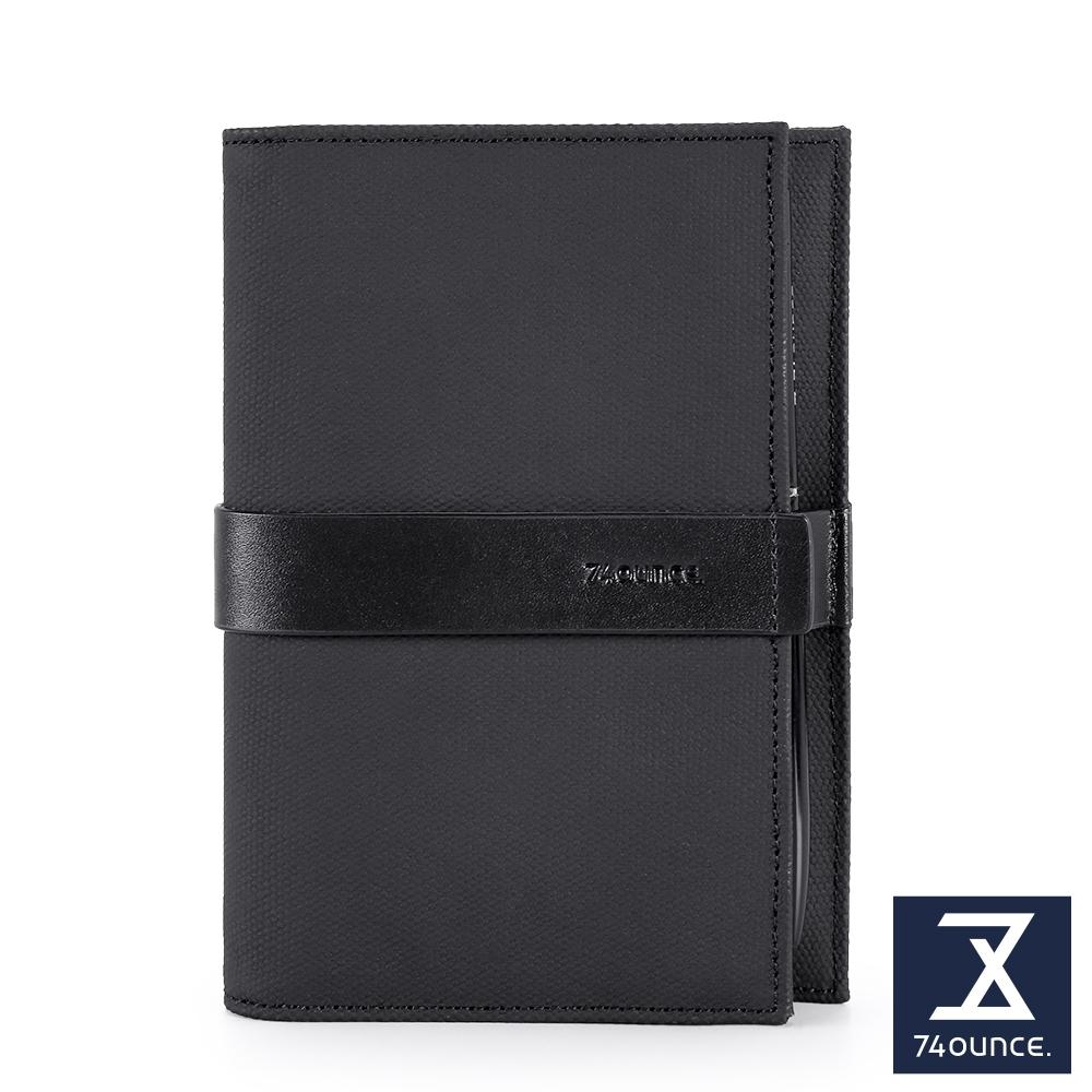 74盎司 皮夾 Mix 配皮護照夾[N-586-MI-M]黑