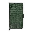 PGA iPhone 6S/6 4.7吋 鱷魚紋壓花 側翻皮套-綠色