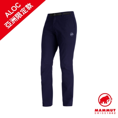 【Mammut 長毛象】Convey Pants Men 彈性防潑水長褲 海洋藍 男款 #1022-00371
