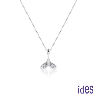 ides愛蒂思 日韓時尚設計純銀晶鑽項鍊鎖骨鍊/美人魚