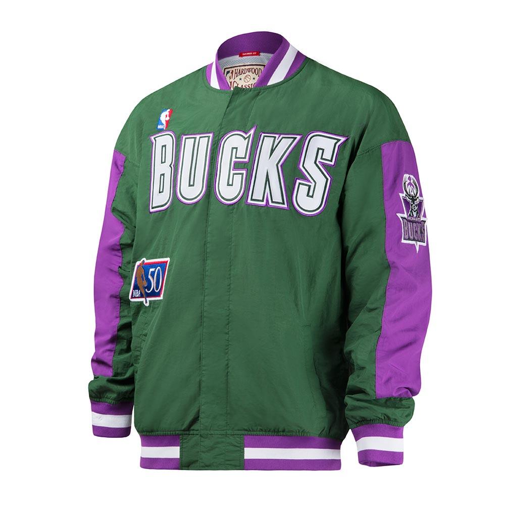 M&N NBA復古熱身外套 公鹿隊