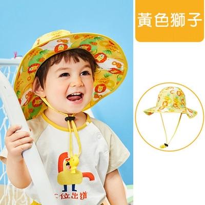 lemonkid-渡假風印花帽-獅子黃
