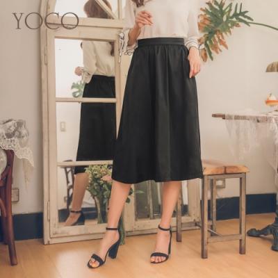 東京著衣-YOCO 經典優雅黑傘擺長裙-S.M.L