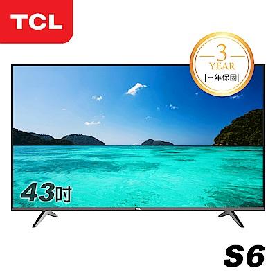 TCL  43 吋S 6 系列 極薄液晶顯示器