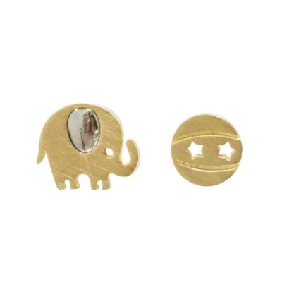 Prisme 美國時尚飾品 魅力大象造型 金色耳環