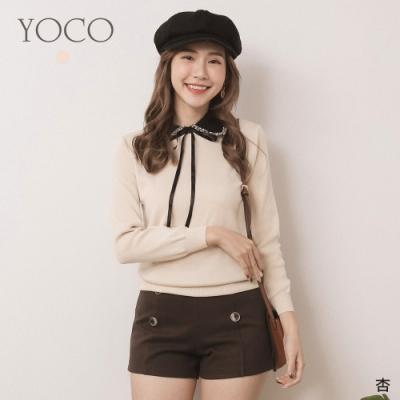 東京著衣-YOCO 古典甜心蝴蝶結點綴針織上衣