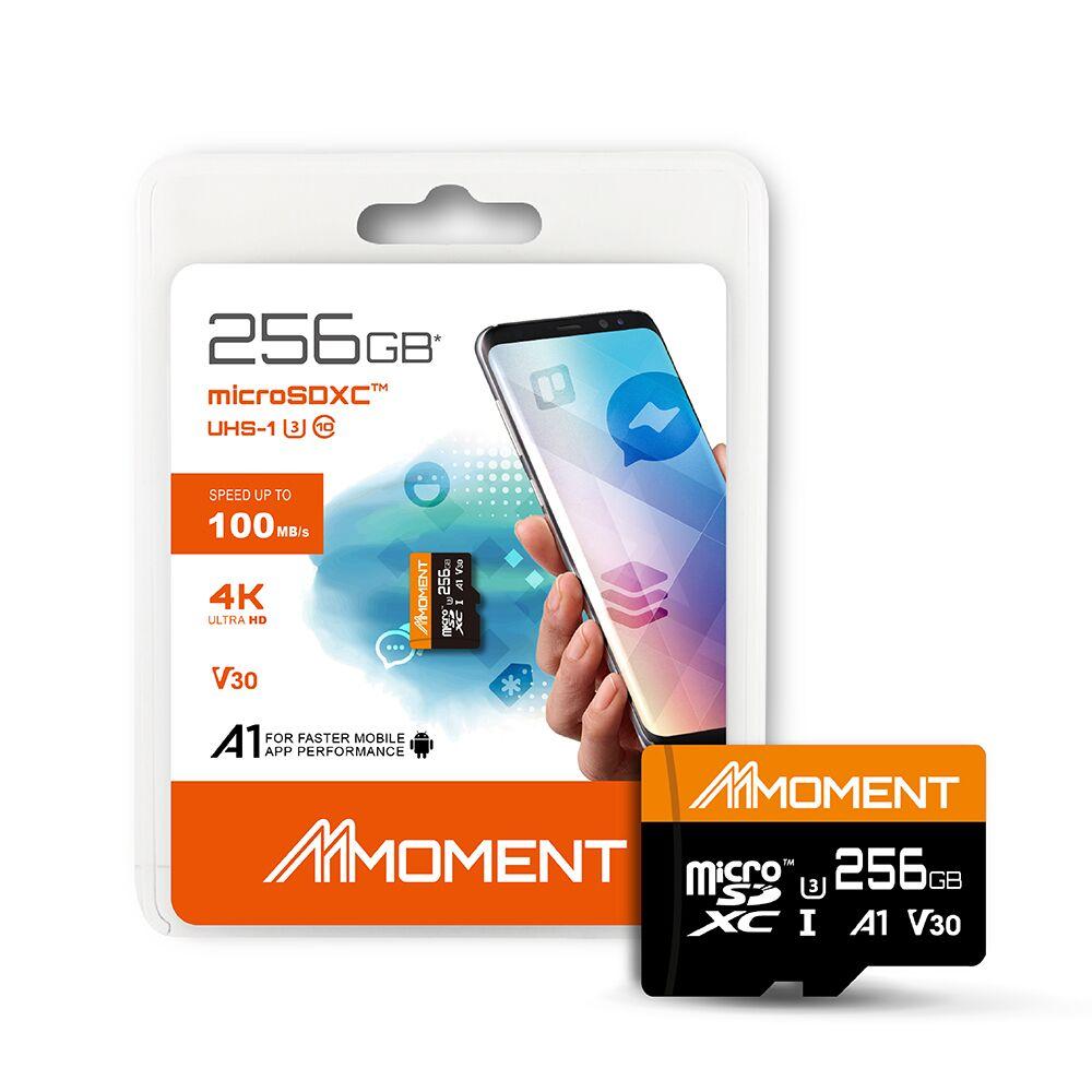 【MOMENT】256GB MicroSDXC UHS-I U3 A1 V30 4K記憶卡 @ Y!購物