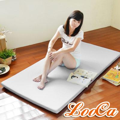 LooCa 高效防水5cm高磅透氣輕便式床墊(灰)-雙人