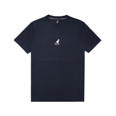 Kangol T恤 Printed Tee 運動休閒 男款 袋鼠 圓領 基本款 棉質 穿搭推薦 藍 米 6021101180