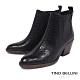 Tino Bellini歐洲進口蛇紋粗高跟短靴_黑 product thumbnail 1