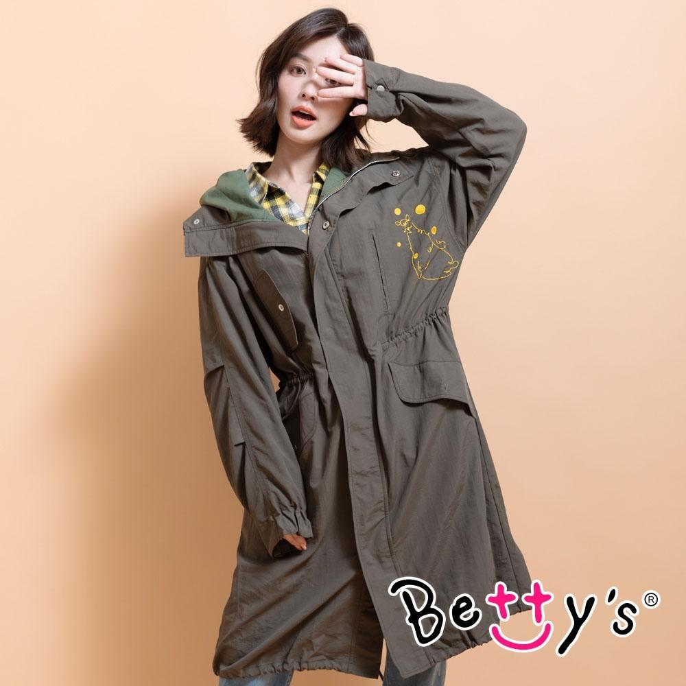 betty's貝蒂思 率性百搭連帽風衣(軍綠)
