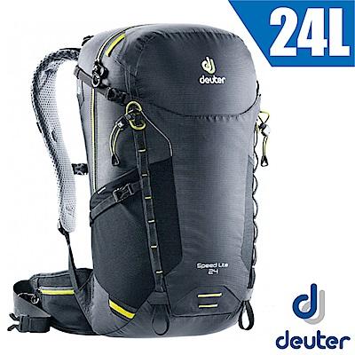 德國 Deuter 新款 Speed Lite 24L 輕量級透氣健行登山背包_黑