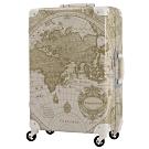 日本WORLD TRUNK 7500-60-25吋 PC+ABS鋁框輕量行李箱 雪白璨世界