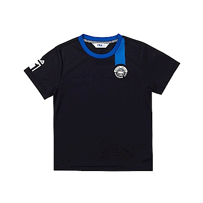 FILA KIDS 童吸濕排汗短袖上衣-黑色 1TET-4451-BK