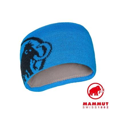 【Mammut】Tweak Headband 保暖針織LOGO頭帶 冰藍/海洋藍 #1191-03451