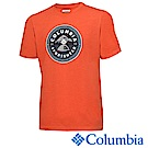 Columbia 哥倫比亞 男款-LOGO短袖上衣- 橘色 UJO00150OG