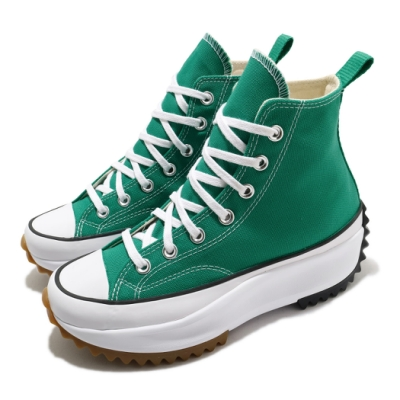 Converse 休閒鞋 Run Star Hike Hi 男女鞋 厚底 舒適 簡約 增高 帆布 穿搭 綠 白 170441C