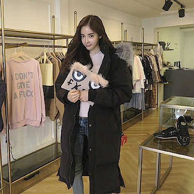 AH dream夢想女孩 韓國空運加厚羽絨防風保暖軍裝外套A130