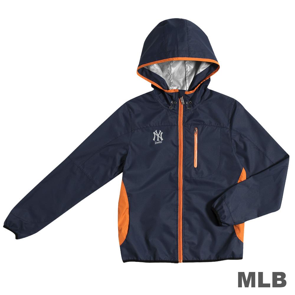 MLB-紐約洋基隊抗UV薄風衣外套-深藍(女)
