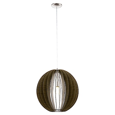 EGLO歐風燈飾 北歐原木風格燈罩式吊燈(不含燈泡)