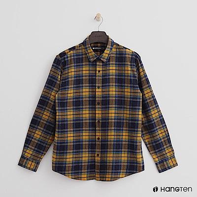 Hang Ten男裝低調復古配色襯衫黃