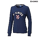 K-SWISS Crew Neck Sweatshirt圓領長袖上衣-女-藍