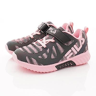 FILA頂級童鞋 反光機能款 EI24S-505黑粉(中小童段)