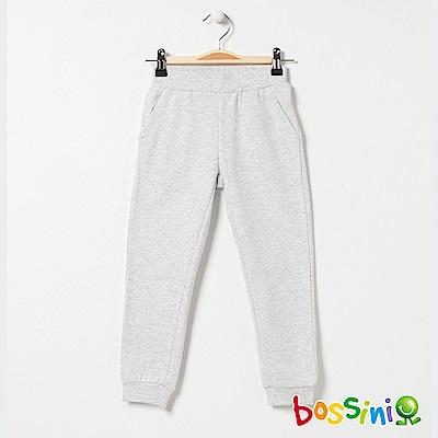 bossini女童-針織厚棉長褲01淡灰