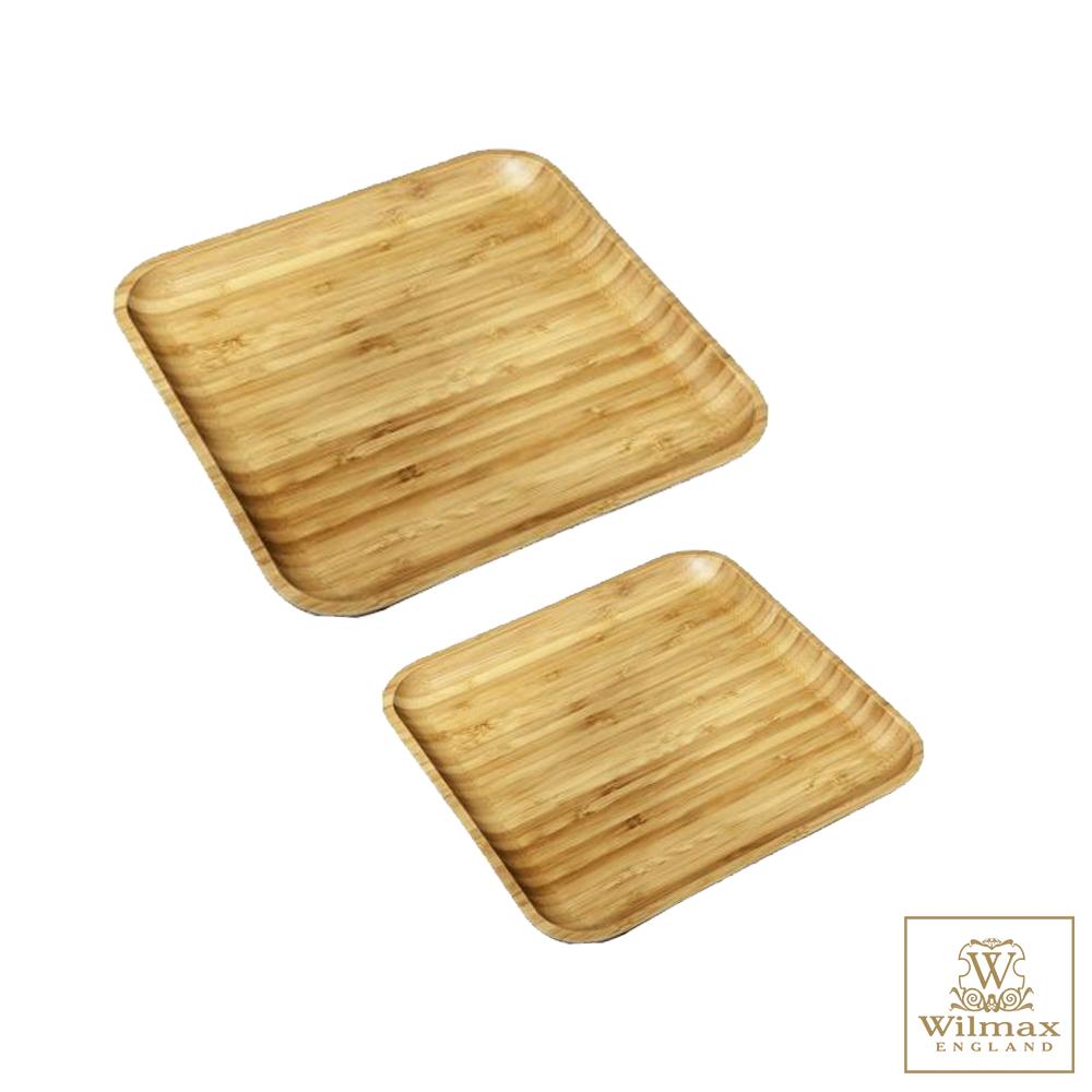 英國 WILMAX 竹製方形托盤/輕食盤-超值二入組
