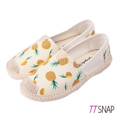 TTSNAP帆布鞋-夏季水果輕巧休閒鞋 鳳梨黃