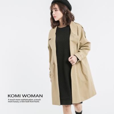【KOMI】厚棉雙排釦風衣外套‧全裡 (1568-806008)