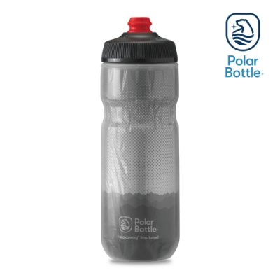 【Polar Bottle】20oz 雙層保冷噴射水壺 RIDGE 灰-銀