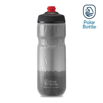 Polar Bottle 20oz 雙層保冷噴射水壺 RIDGE 灰-銀
