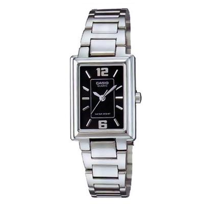 CASIO 方采熟女知性女錶腕(LTP-1238D-1A)-黑/20mm