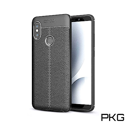 PKG 紅米Note6Pro 手機殼-商務時尚款抗指紋系列-黑