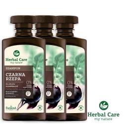 波蘭Herbal Care 黑蘿蔔健髮植萃調理洗髮露(易落髮髮質)330ml(3瓶組)