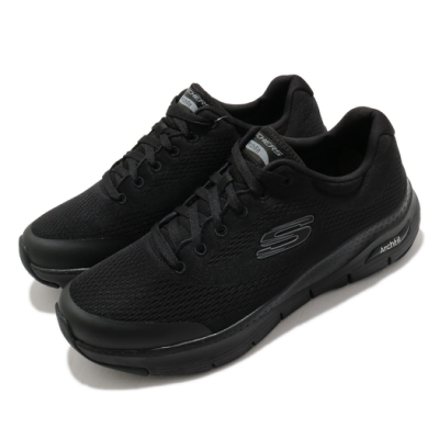 Skechers 休閒鞋 Arch Fit 專利鞋墊 男鞋 回彈 避震 穩定 透氣 舒適 足科醫生推薦 黑灰 232040BBK