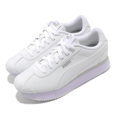 Puma 休閒鞋 Turino Stacked Snake女鞋 基本款 舒適 簡約 厚底 球鞋 穿搭 白 米白 37414201