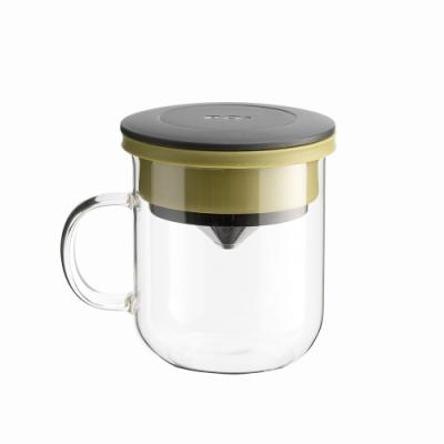 【PO:Selected】丹麥研磨過濾咖啡玻璃杯350ml 2.0 (黑+綠)