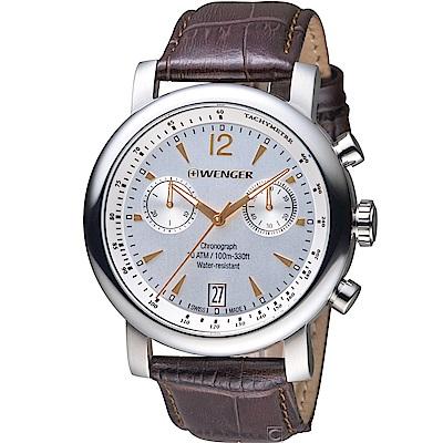 WENGER 都會系列雅痞時尚計時腕錶(01.1043.110)44mm