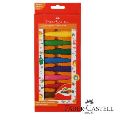 Faber-Castell 學齡可擦拭蠟筆 子彈10色