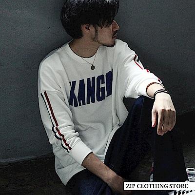 寬版運動衫KANGOL運動大學T(4色) ZIP日本男裝