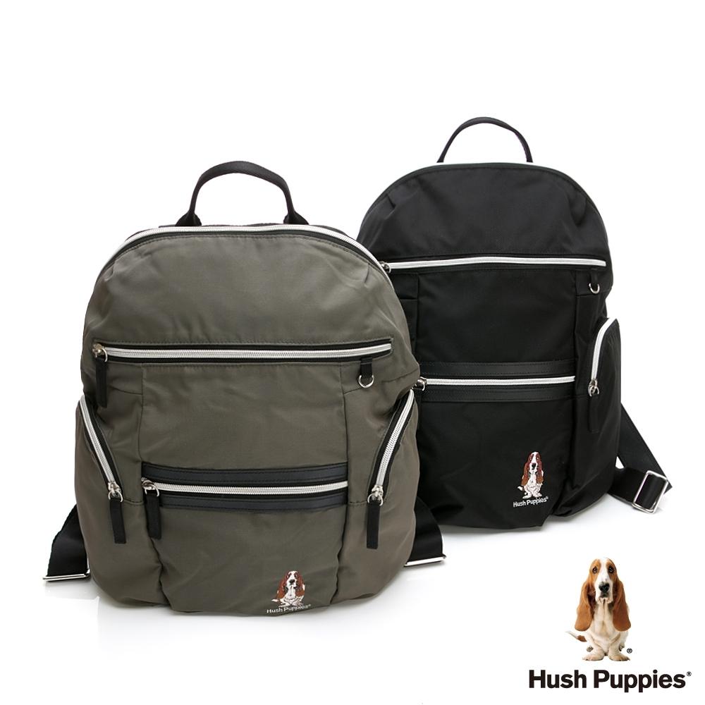 [時時樂限定]  Hush Puppies 多功能拉鍊後背包-兩色任選