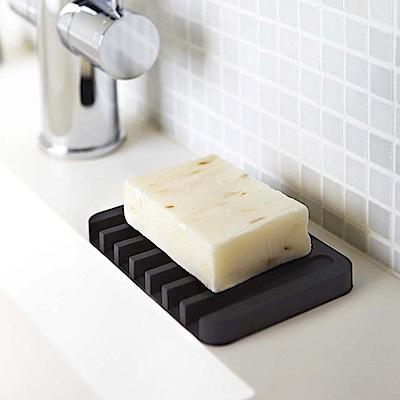 日本YAMAZAKI Flow斷水流肥皂架/瀝水架-黑